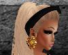 <A> Gold mystic earings