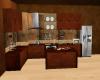 Brown Apartment Kitchen