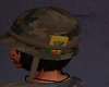 Army helmet.