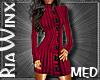 Plum Sweater Dres MED