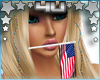 USA Flag in Mouth