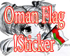 Cute Girl with Oman Flag