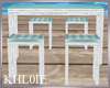 K rustic beach bar table