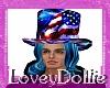 Flag Hat w Hair