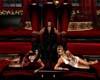 pvc black red throne