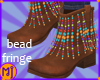 mj Brwn Bead Fringe Boot