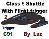 Class 9 Shuttle 2 flying