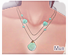 Mun   Shell Necklace '