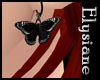 {E} Dark Butterfly Earrg
