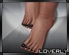 [LO] Black polish feet