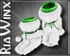 GreenWht Fur Uggg Boot