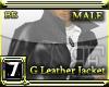 [BE] G LEATHER JACKET G
