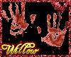 WF>Bloody Hand Prints