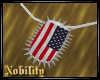 Flag Spiked Dogtag
