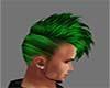 green & black hair male