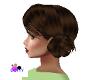 .only lady Brunette bun