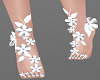 H/White Floral Feet