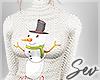 *S Snowman Sweater