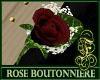 Boutonniere Rose Burgund