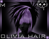 Black Purple hair 46aⓀ