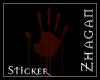 [Z] BloodyHand Sticker