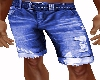 MENS BLUE JEAN SHORTS