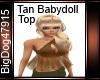 [BD] Tan Babydoll Top