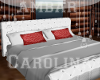 BED WHITE RED