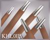 K silver nails dainty