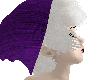 purple/white beanie