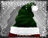 .M. Green Santa Hat