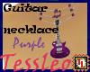 Guitar necklace purple