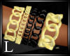 DB- Gold Black Bracelet