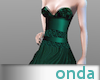 Gown Satin Green - GA