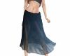 Blue sheer boho skirt