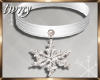 Frosted Snowflake Choker