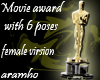 Movie Award with 6 poses