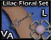 VA Lilac Floral Set B-L
