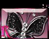 *R* Black Butterfly Stkr