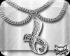 ! Silver ribbon necklace