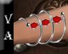 VA Silver Red Bracelet L