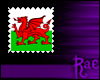 R: Welsh Flag Stamp