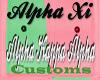 alpha xi custom