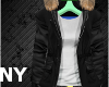 [NY] Stem Coat Black