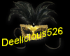 Black and gold mask