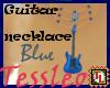 guitar necklace blue