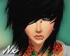 |Nx| Emo Black Hair
