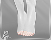 White PVC Heel Socks