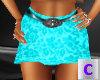 Teal Belted Skirt