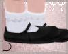 Black Lolita Slippers